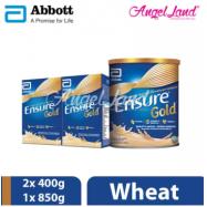 image of Abbott Ensure Gold +HMB 850g (1 Tin) + Ensure Gold +HMB 400g (2 Packs) Wheat