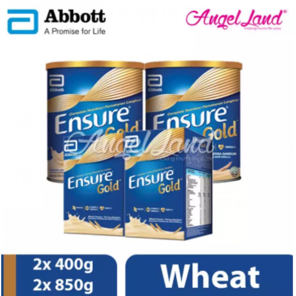 Abbott Ensure Gold +HMB 850g (2 Tins) + Ensure Gold +HMB 400g (2 Packs) Wheat