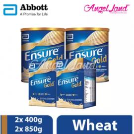 image of Abbott Ensure Gold +HMB 850g (2 Tins) + Ensure Gold +HMB 400g (2 Packs) Wheat