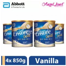 image of Abbott Ensure Gold +HMB 850g Vanilla (4 Tins)