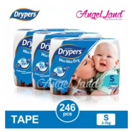 image of Drypers Wee Wee Dry Tape Diaper S82/M74/L62/XL50/XXL40 (3packs)