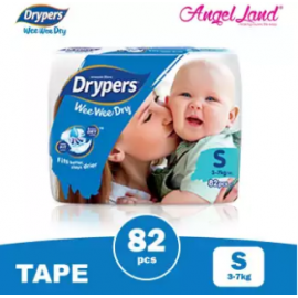 image of Drypers Wee Wee Dry Tape Diaper S82/M74/L62/XL50/XXL40 (1pack)
