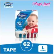 image of Drypers Wee Wee Dry L62 (1pack)