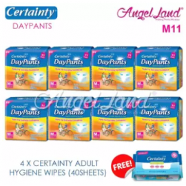 image of Certainty Daypants Disposable Adult Pants Regular Pack M11 (8 packs)+ Free 4 packs Wipes