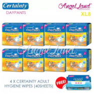 image of Certainty Daypants Disposable Adult Pants Regular Pack XL8 (8 packs)+ Free 4 packs Wipes