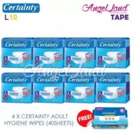 image of Certainty Disposable Adult Diapers L10 (8packs)