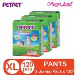 PETPET DayNight Pants Jumbo Packs NM54/L46/XL40/XXL32 (3Packs)