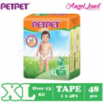 PETPET Tape Diaper Mega Pack S80/M72/L60/XL48 (1 Packs)