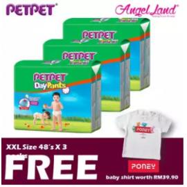 image of PetPet Daypants Mega pack (3Packs) +FOC Baby Poney Shirt -XXL48