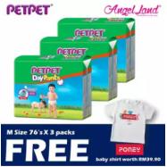 image of PetPet Daypants Mega pack (3Packs) +FOC Baby Poney Shirt -M76