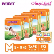 image of PETPET Tape Diaper Jumbo Packs M48 (4 Pack) + Free Fitti Gold Sample Diaper 4pcs