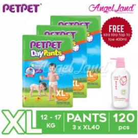 image of PetPet Daypants Jumbo Pack XL40 (3 Packs) + FOC Kira Kira Top To Toe 400ml