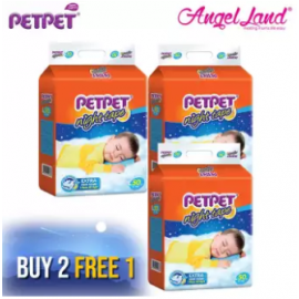 image of PETPET Night Tape Diaper Mega Packs (3 packs) [Buy 2 Free 1 Promotion