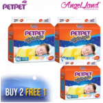 PETPET Night Tape Diaper Mega Packs (3 packs) [Buy 2 Free 1 Promotion