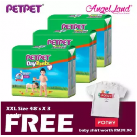 image of PetPet Daypants Mega pack (3Packs) +FOC Baby Poney Shirt -XXL48