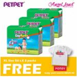 PetPet Daypants Mega pack (3Packs) +FOC Baby Poney Shirt -XL56