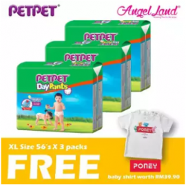image of PetPet Daypants Mega pack (3Packs) +FOC Baby Poney Shirt -XL56