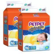 image of PETPET Night Tape Diaper Mega Packs L50 (2packs)