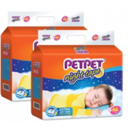 image of PETPET Night Tape Diaper Mega Packs S66 (2packs)