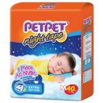 PETPET Night Tape Diaper Jumbo Packs M40 (3packs)