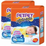 image of PETPET Night Tape Diaper Jumbo Packs M40 (2packs)