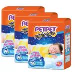 PETPET Night Tape Diaper Jumbo Packs S42 (3packs)