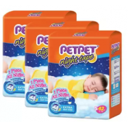 image of PETPET Night Tape Diaper Jumbo Packs S42 (3packs)