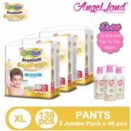image of BabyLove Premium GoldPants Jumbo Pack XL46 (3Packs) + Free 3x Kira Kira Top to Toe 400ML