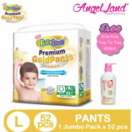 image of BabyLove Premium GoldPants Jumbo Pack L52 (1Pack) Free Kira Kira Top To Toe 400ML