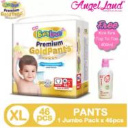 image of BabyLove Premium GoldPants Jumbo Pack XL46 (1Pack) Free Kira Kira Top To Toe 400ML