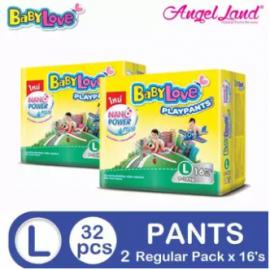 image of BabyLove PlayPants Regular L16 (2 packs) (Exp Date : 11/2019)