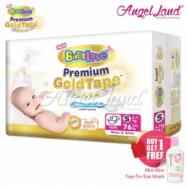image of BabyLove Premium GoldTape Jumbo Pack S76 (1Pack) FOC 1x Kira Kira Top-To-Toe Wash 400ml