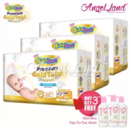 image of BabyLove Premium GoldTape Jumbo Pack NB84 (3Pack) FOC 3x Kira Kira Top-To-Toe Wash 400ml