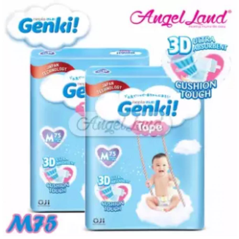 Genki Tape Mega Diaper M75 (2Packs)