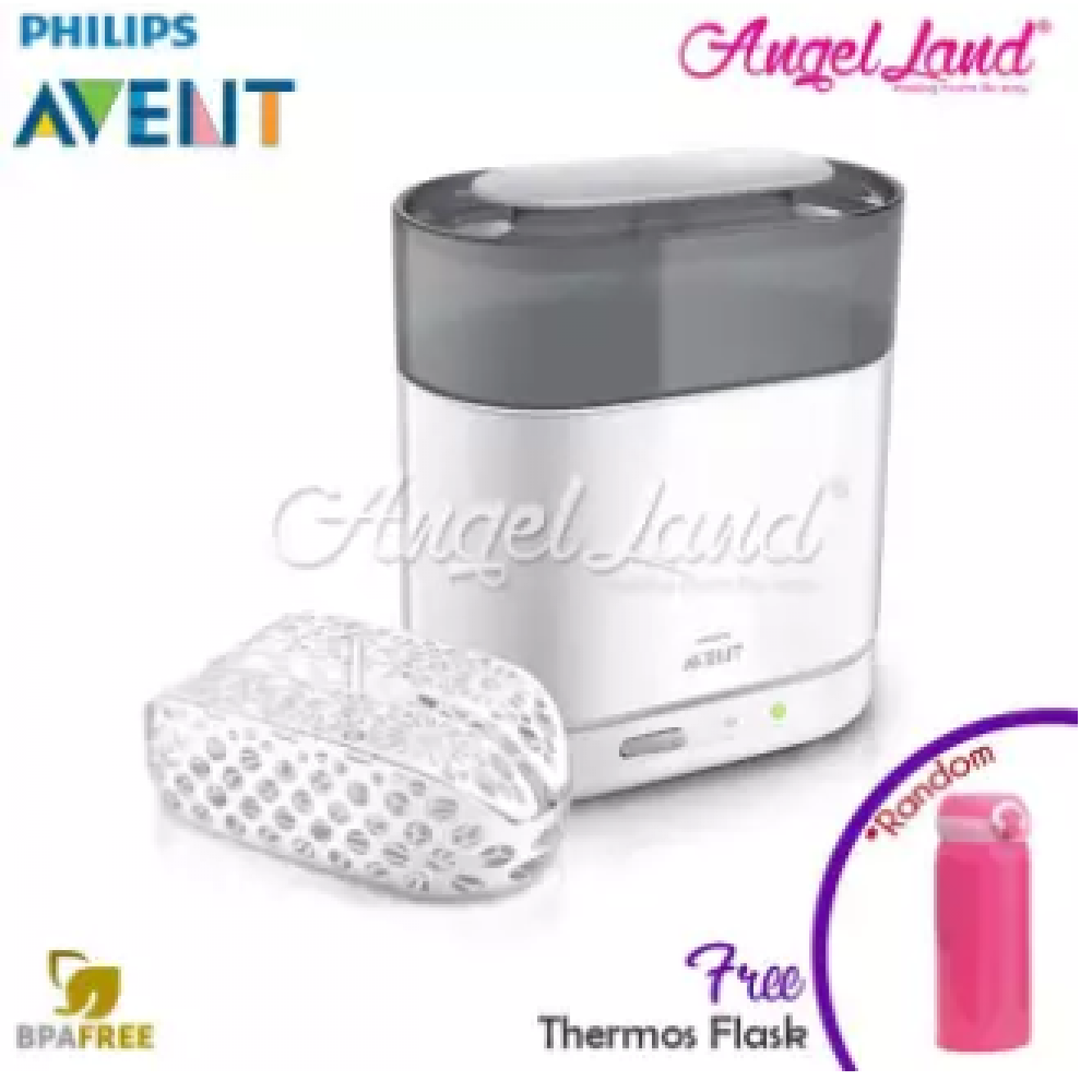 Philips Avent 4 in 1 Steriliser FDN-SCF287/01 + FOC Thermos Flask (Random Color)