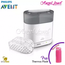 image of Philips Avent 4 in 1 Steriliser FDN-SCF287/01 + FOC Thermos Flask (Random Color)