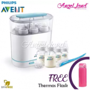 image of Philips Avent 3 in 1 Electric Steam Steriliser - SCF285/01 + Philips Avent Anti Colic Classic+ Newborn SCD210/00 [Free Thermos Flask]