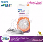 [Genuine] Philips Avent Natural Teat 2.0 (Extra Soft) - 2 Pcs/Pack - SCF656/23 6m+ Yhole