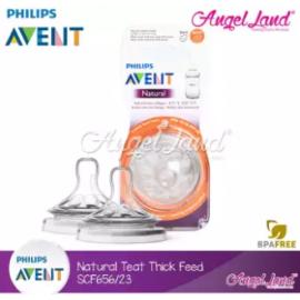 image of [Genuine] Philips Avent Natural Teat 2.0 (Extra Soft) - 2 Pcs/Pack - SCF656/23 6m+ Yhole