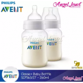image of Philips Avent Classic+ Anti Colic 1m+ 260ml/9oz (Twin Pack) - SCF563/27