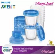 image of Philips Avent Breast Milk Storage Cups - SCF618/10