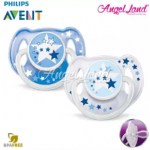 Philips Avent Glow In The Dark Night Time Soother 6-18m Blue - SCF176/22