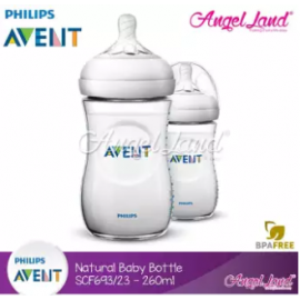 image of Philips Avent Natural Bottle 9oz/260ml Twin Pack SCF693/23