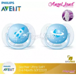 Philips Avent Soother UltraSoft 0-6M SCF222/21 (Twin Pack)- Blue