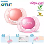 Philips Avent Soother UltraSoft 6-18M (SCF212/23)-Twin Pack -Pink