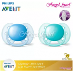 Philips Avent Soother UltraSoft 6-18M (SCF212/23)-Twin Pack -Blue
