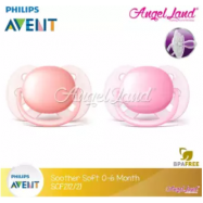 image of Philips Avent Soother UltraSoft 0-6M (SCF212/21)-Twin Pack -Pink