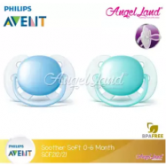 image of Philips Avent Soother UltraSoft 0-6M (SCF212/21)-Twin Pack - Blue