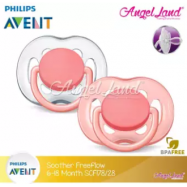 image of Philips Avent Freeflow Pacifiers 6-18m Twin Pack - SCF178/27 & SCF178/28 -Pink