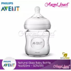 image of [Genuine]Philips Avent Natural Glass Bottle 120ml/4oz Single Pack -SCF671/13